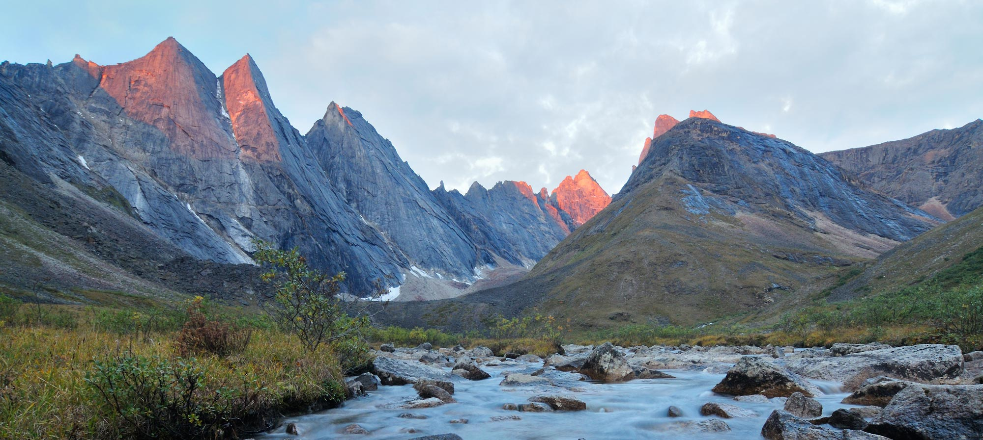 Gates of the Arctic National park hiking trips The Maidens, Arrigetch Peaks.