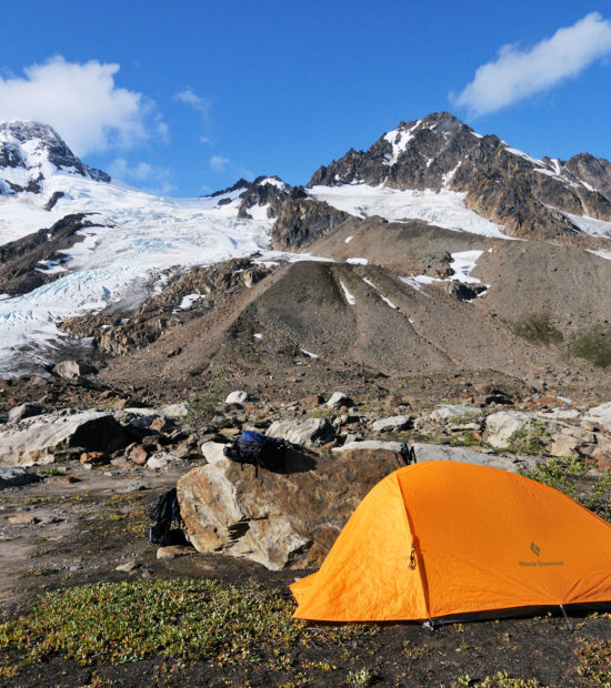 Camped near Iceberg Lake, Wrangell - St. Elias National Park