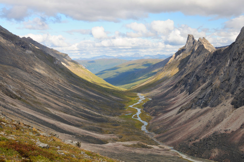 Guides hikes in Gates of the Arctic trip photos Arrigetch Creek, Brooks Mountains, Alaska.
