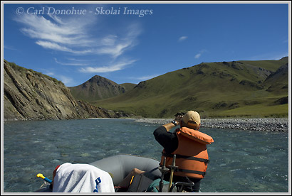 Rafting float trip, Canning River, Arctic National Wildlife Refuge, ANWR, Alaska.