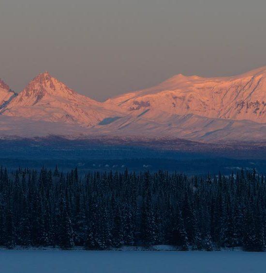 Mt Drum Mt Sanford Mt Snyder Wrangell Mountains Alaska.
