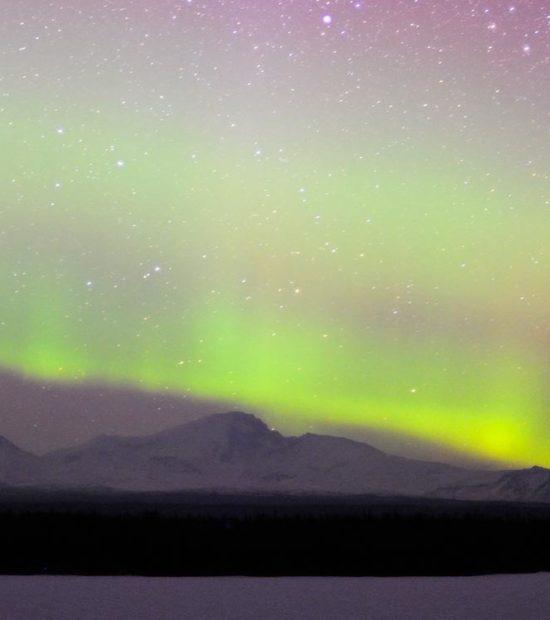 Aurora borealis Wrangell - St. Elias National Park, Alaska.