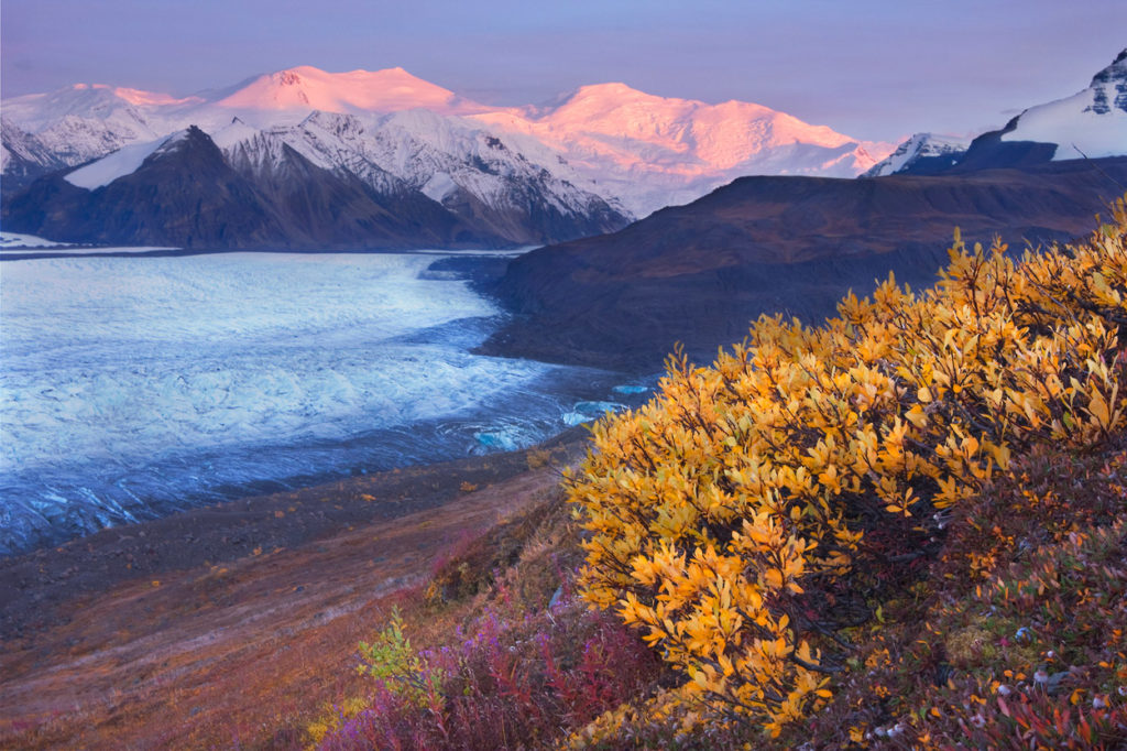 Russell Glacier, Mt Bona and Mt Churchill, Wrangell - St. Elias National Park and Preserve, Alaska