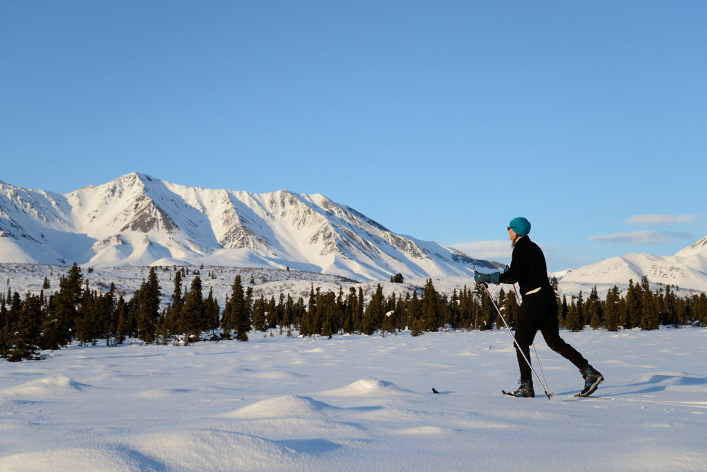 Alaska cross-country skiing trip in Wrangell - St. Elias National Park, Alaska.