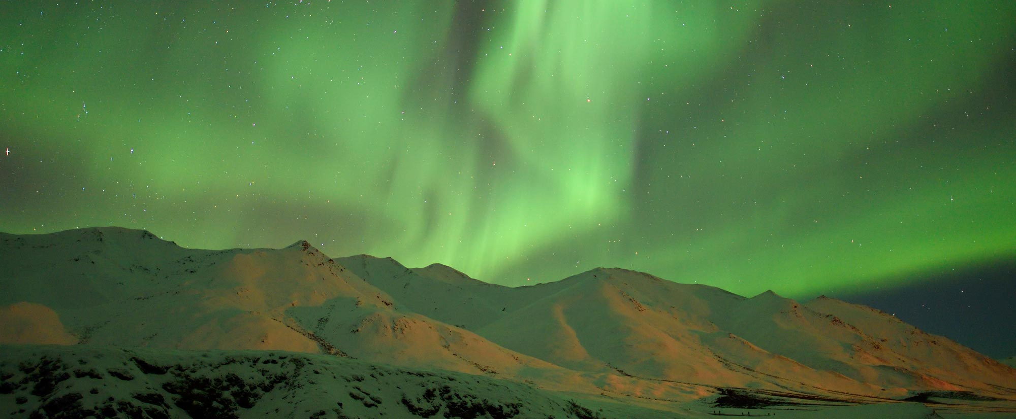 Northern lights photo Brooks Range Alaska.