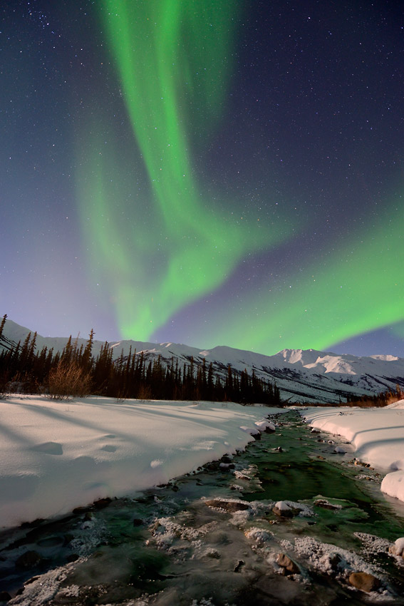 Northern lights over Gates of the Arctic National Park.