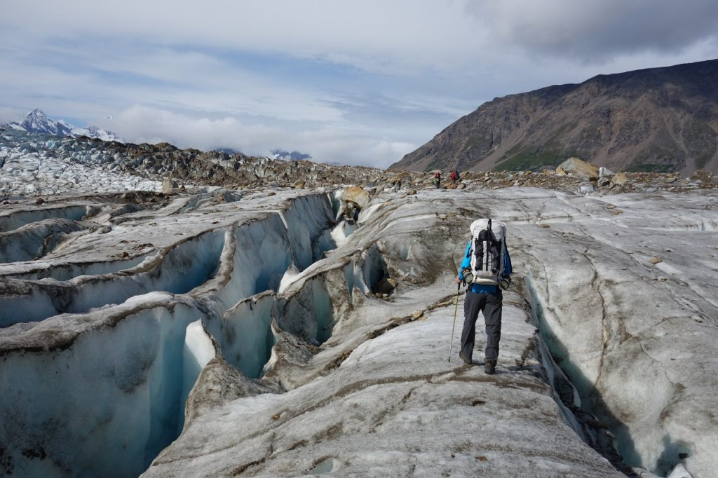 Backpacking trip seven pass route, Wrangell - St. Elias National Park